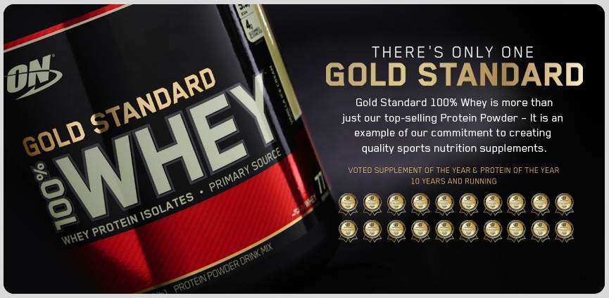Whey Gold Standard banner