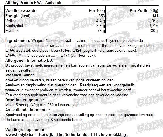 All Day Protein EAA Activlab samenstelling